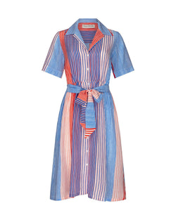 Painted Breton Stripe Short Sleeve Lauren Dress