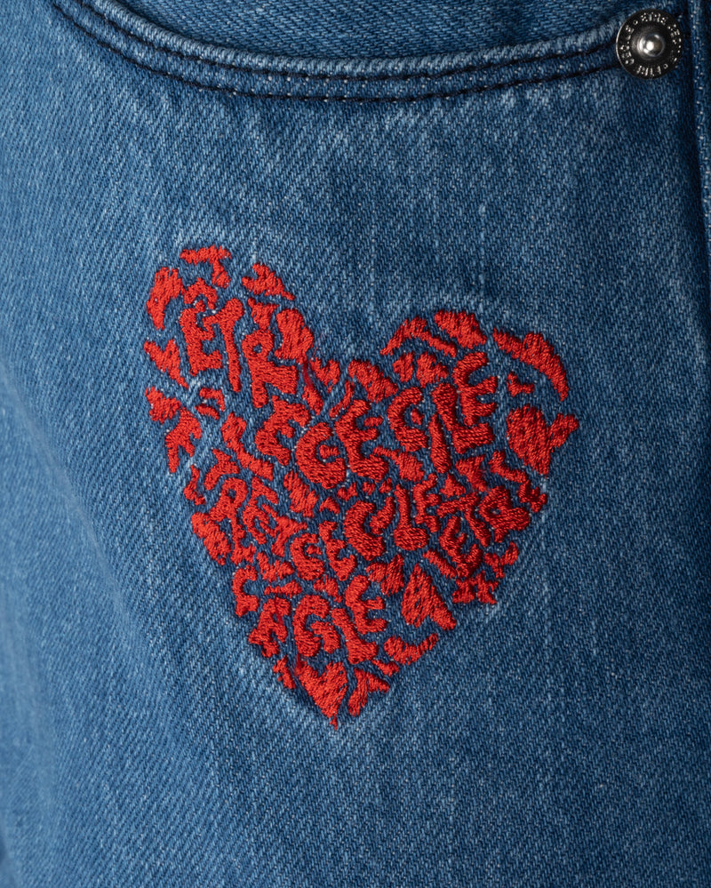 Camou Heart Slouch Jean