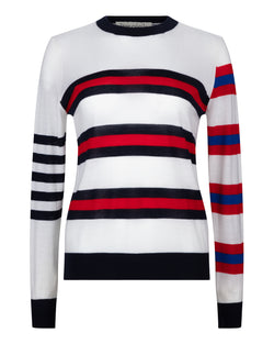Multi Stripe Boyfriend Knit