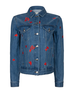 Camou Heart All Over Denim Jacket