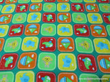 Flannel Fabric - Playpen Green - By the yard - 100% Cotton Flannel