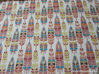 Flannel Fabric - Southwestern Feather - By the yard - 100% Cotton Flannel
