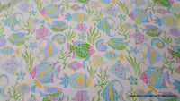 Flannel Fabric - Under the Sea Mosaic - By the yard - 100% Cotton Flannel