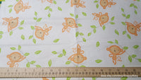 Flannel Fabric - Sweet Monkey - By the yard - 100% Cotton Flannel