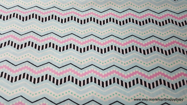 Flannel Fabric - Monster Stripe Glow in the Dark - By the yard - 100% Cotton Flannel