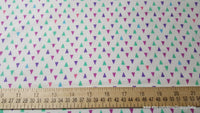 Flannel Fabric - Gypsy Triangles on White - By the yard - 100% Cotton Flannel