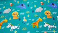 Flannel Fabric - All Over Safari - By the yard - 100% Cotton Flannel