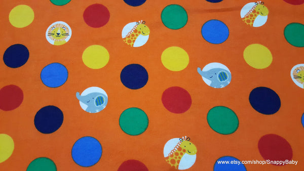 Flannel Fabric - Dot Safari - By the yard - 100% Cotton Flannel