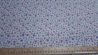 Flannel Fabric - Multi Colored Star Wave on White - By the yard - 100% Cotton Flannel