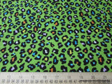 Flannel Fabric - Green Cheetah - By the yard - 100% Cotton Flannel