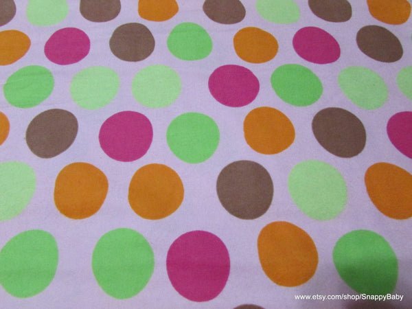Flannel Fabric - Baby Big Dots on Pink - By the yard - 100% Cotton Flannel