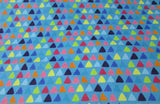 Flannel Fabric - Whimsy Triangles - By the Yard - 100% Cotton Flannel