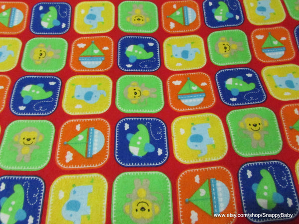 Flannel Fabric - Playpen Red - By the yard - 100% Cotton Flannel