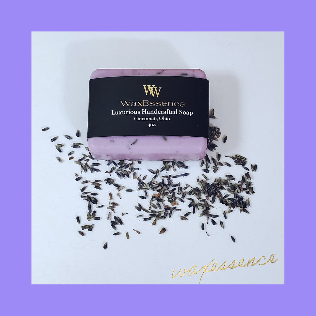 Vegan Handcrafted Bar Soap | Coco Mango Butter | FRENCH LAVENDER - WaxEssence