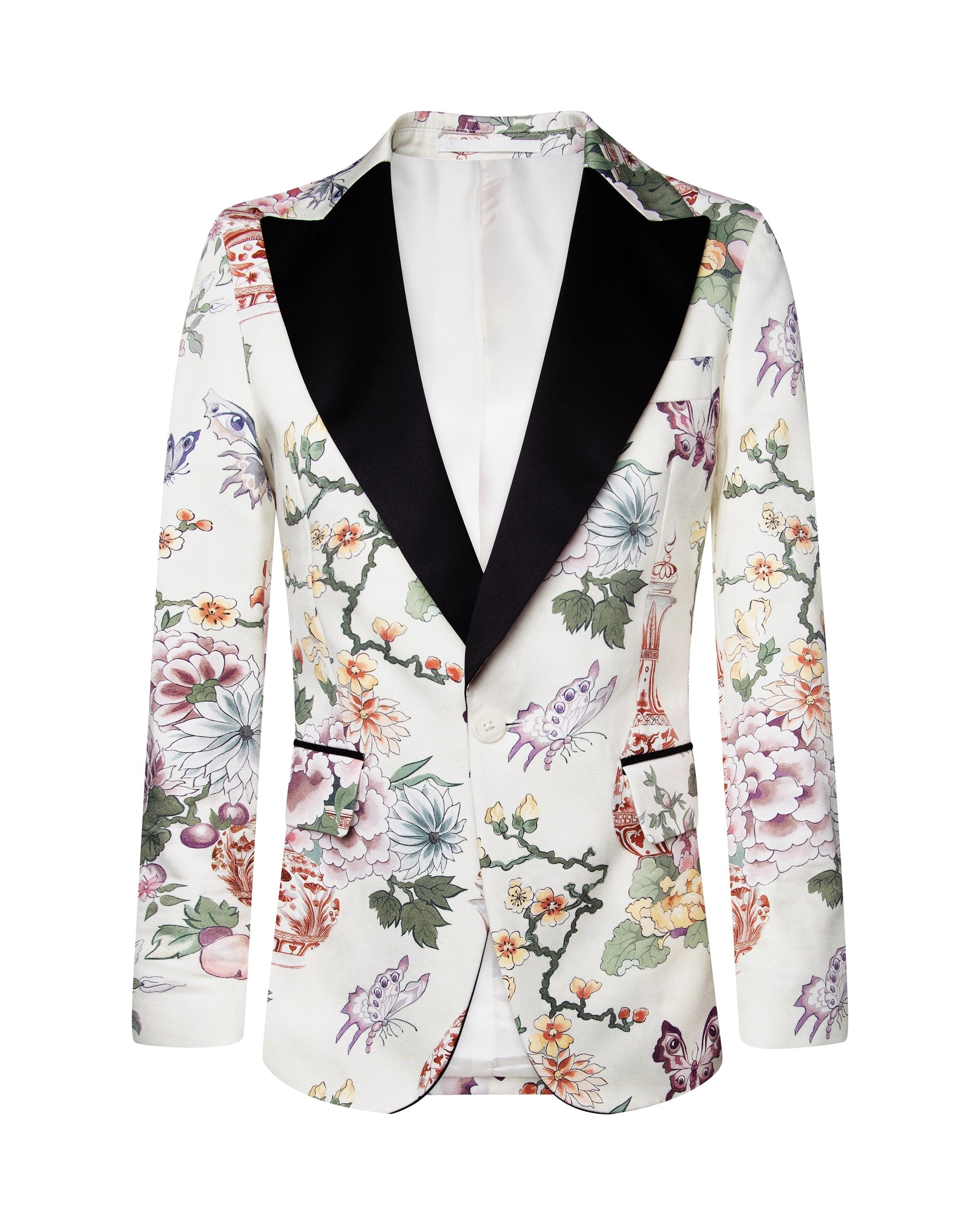 VICTOR FLORAL TUXEDO JACKET