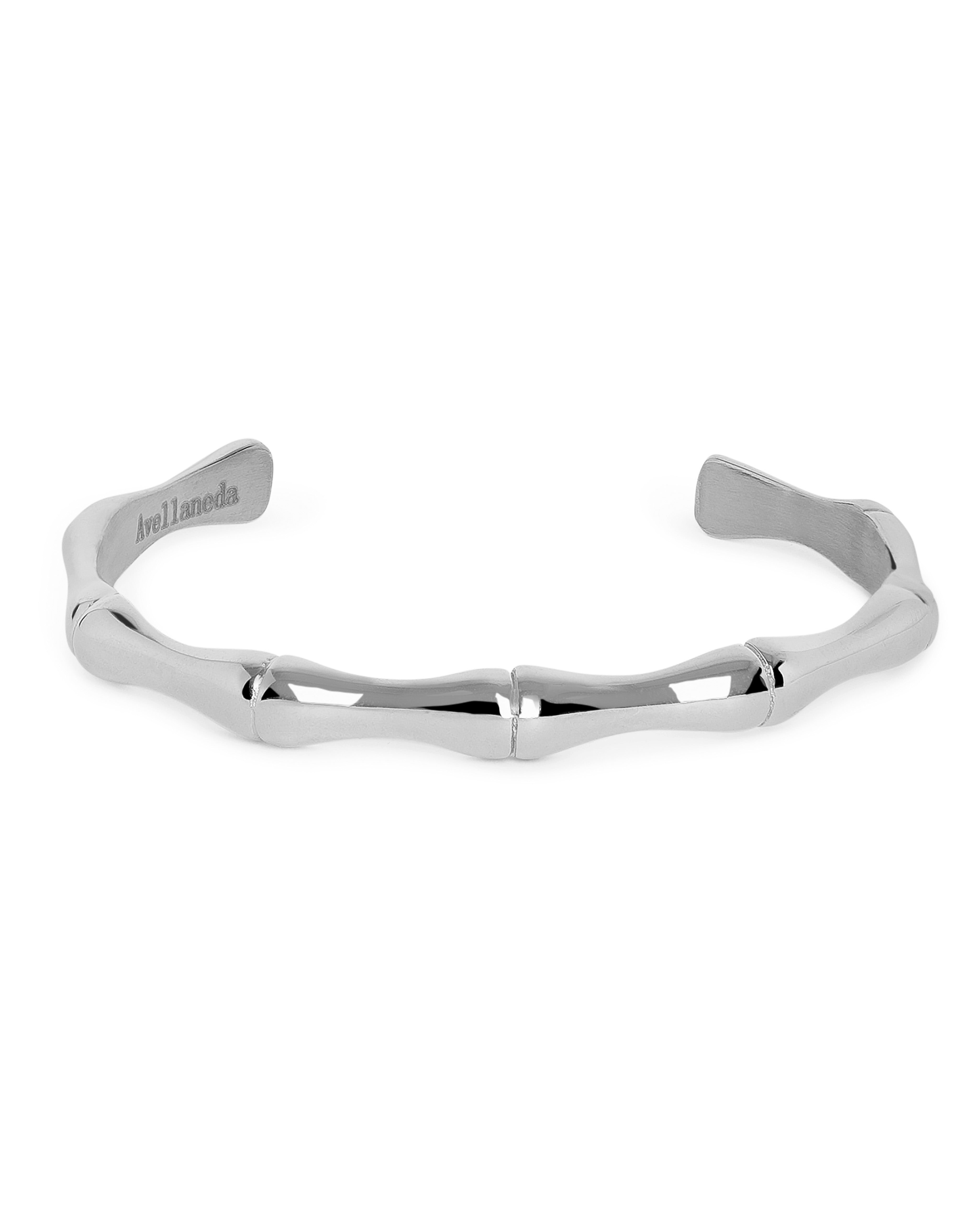 BAMBOO VINTAGE SILVER CUFF BANGLE