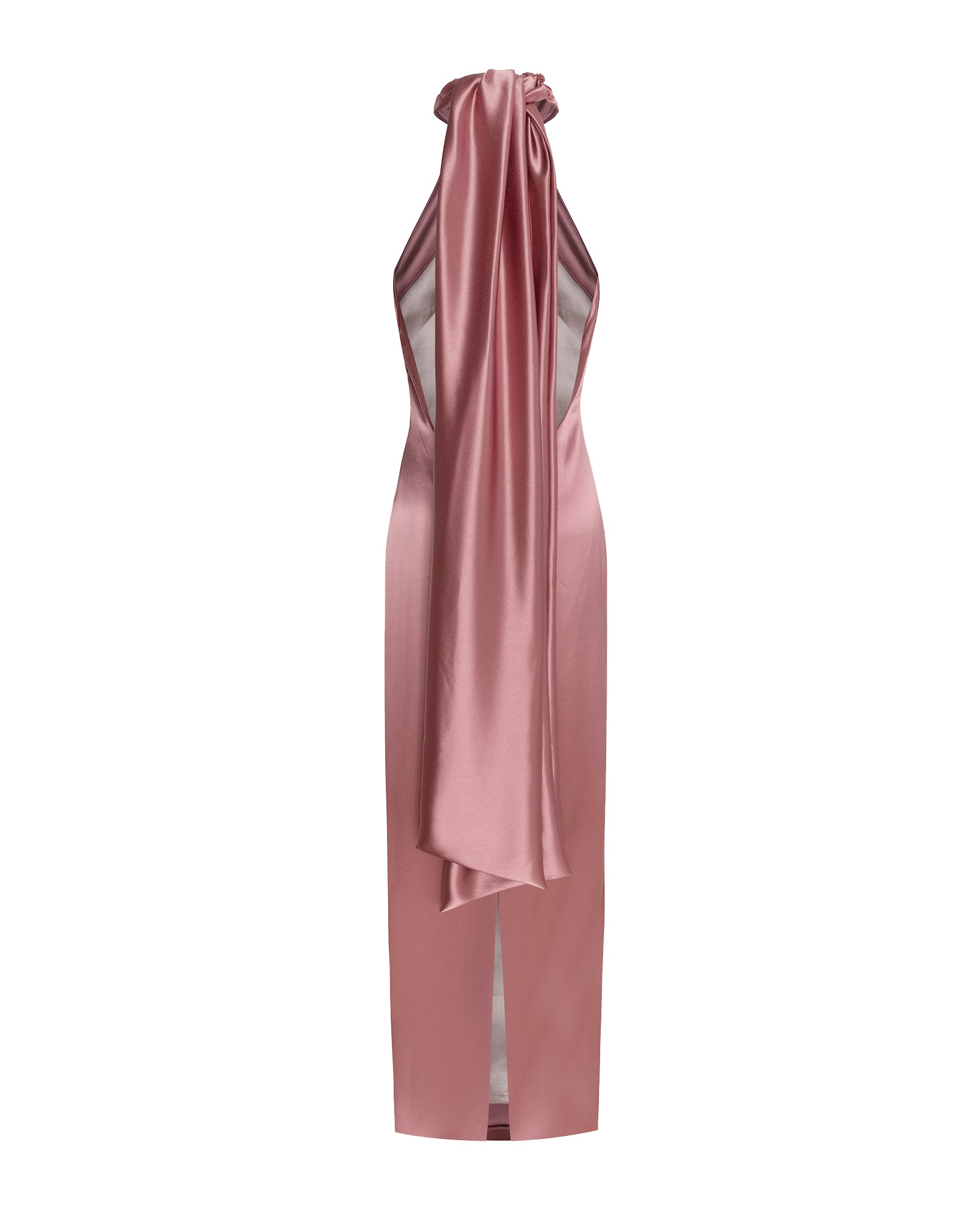 KALA HALTERNECK SATIN DRESS