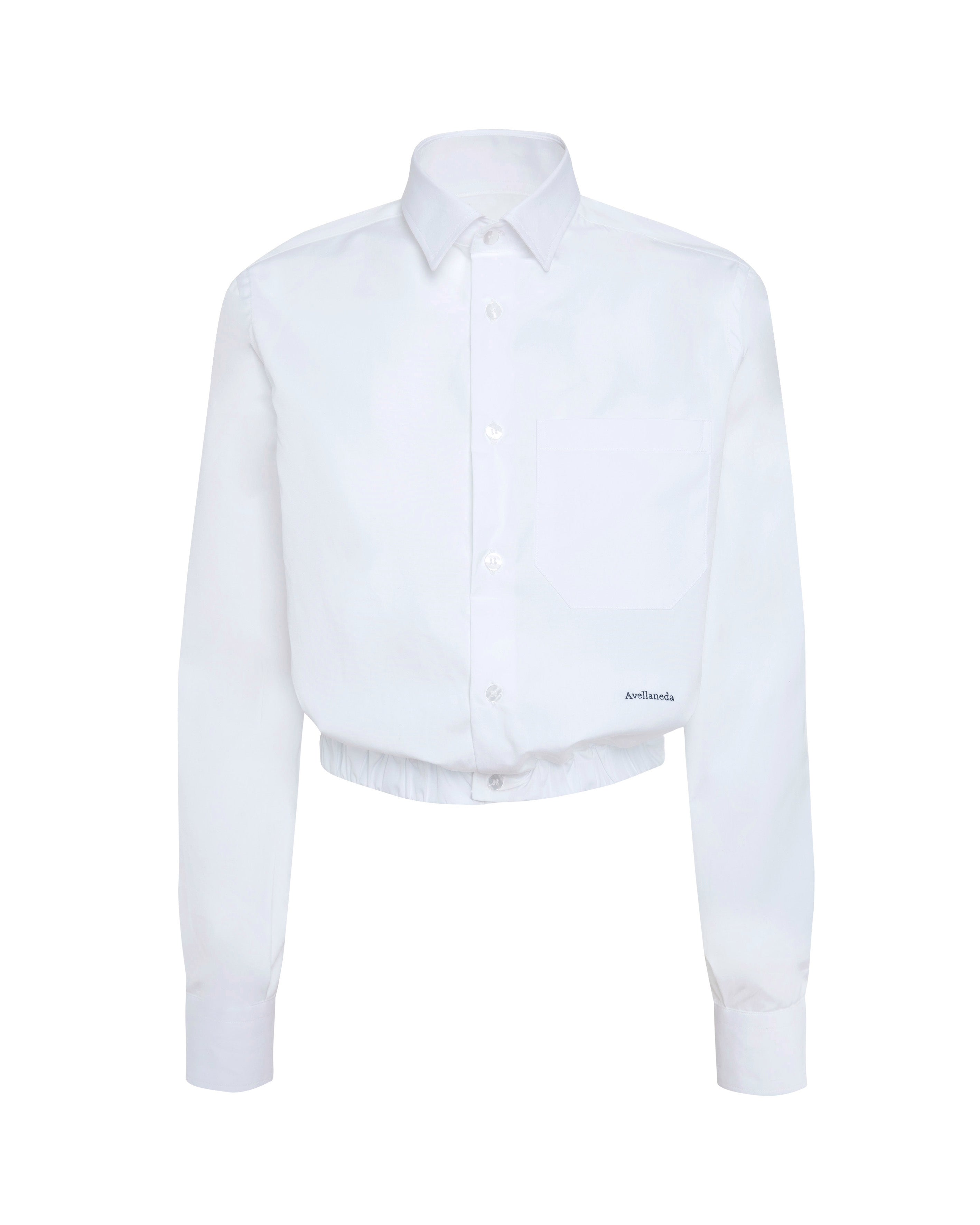 BRIGITTE CROPPED WHITE SHIRT