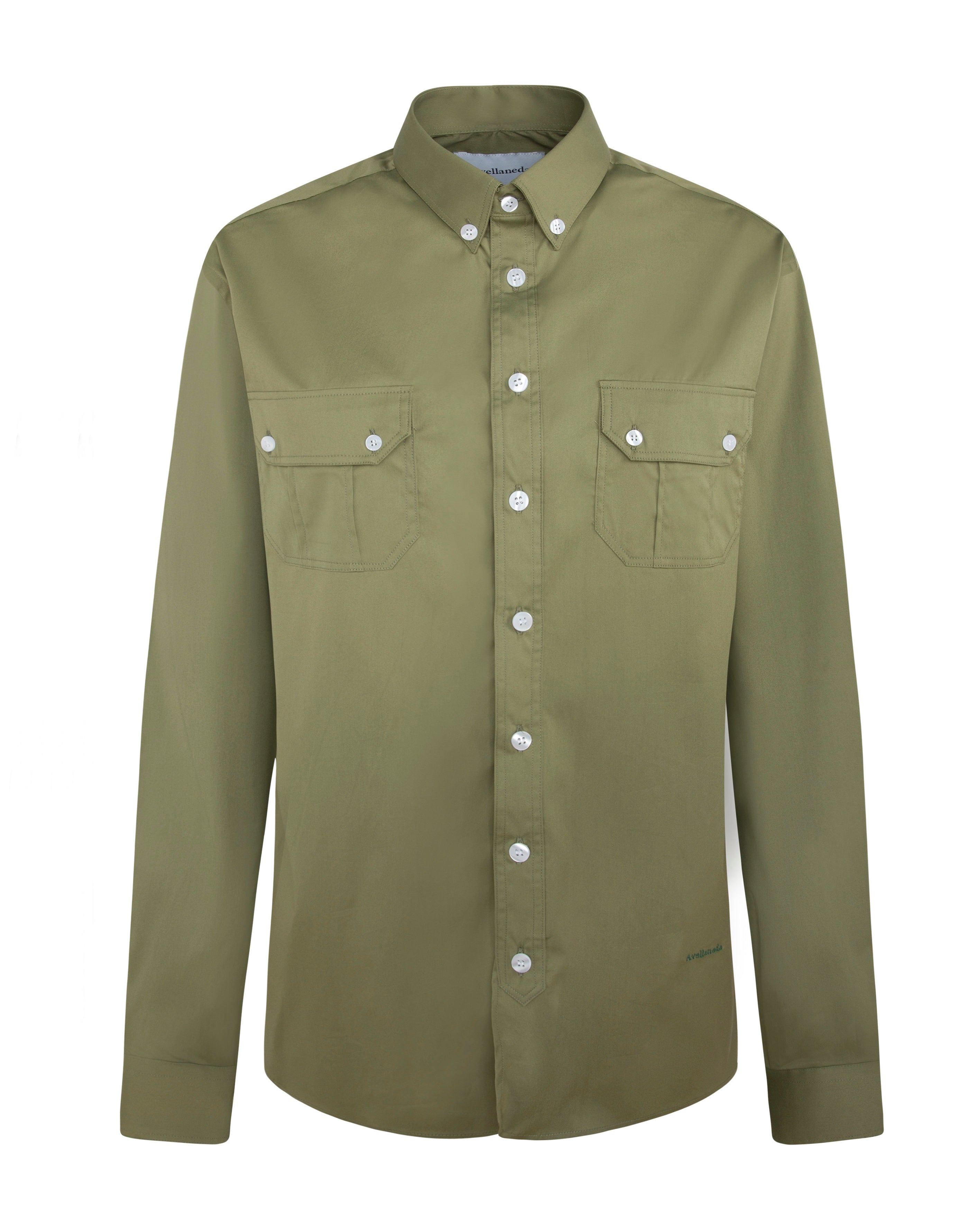 WOMEN'S GREEN BERNARD SAHARIANA SHIRT