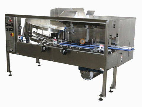Automatic plastic and metal bottle unscrambler machinewith 48 inches bowl, model BU7100, by Acasi Machinery Inc.