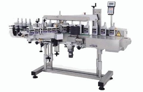 Front / Back pressure sensitive labeling system , model CVC 440C, by Acasi Machinery Inc.