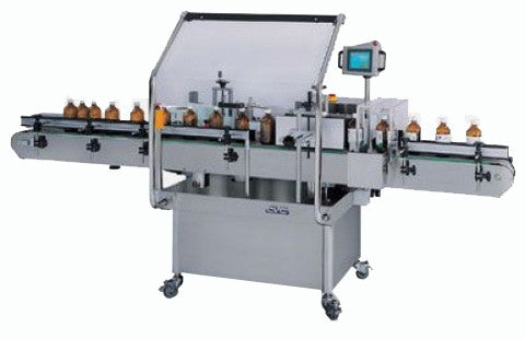 High speed wrapround pressure sensitive labeler, model 302, by Acasi Machinery Inc.