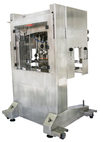 Inline Bottle Cap Tightener Model - CAI, by Acasi Machinery Inc., Rear view