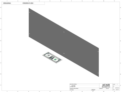 Inline capping machine for a wide range of containers and caps, model CS5200, Part CS5200-01-024, by Acasi Machinery Inc.