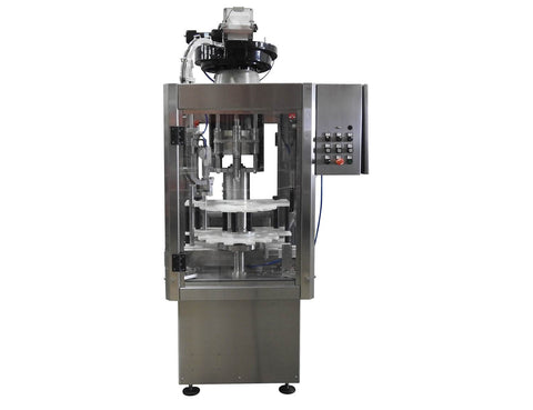 Single head puch bottle cappe Model PC1-8000-TC, by Acasi Machinery Inc. Front view