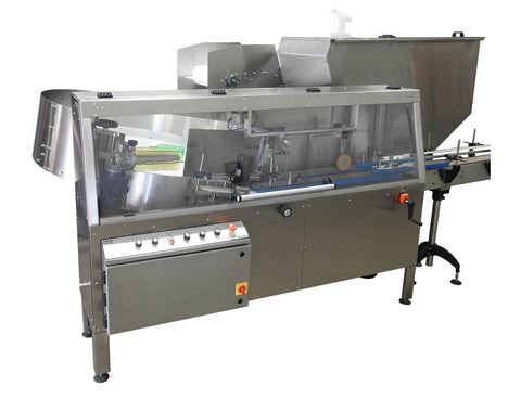 Automatic plastic and metal bottle unscrambler machine with 60 inches bowl, model - TruSort-60, by Acasi Machinery Inc., front and left view