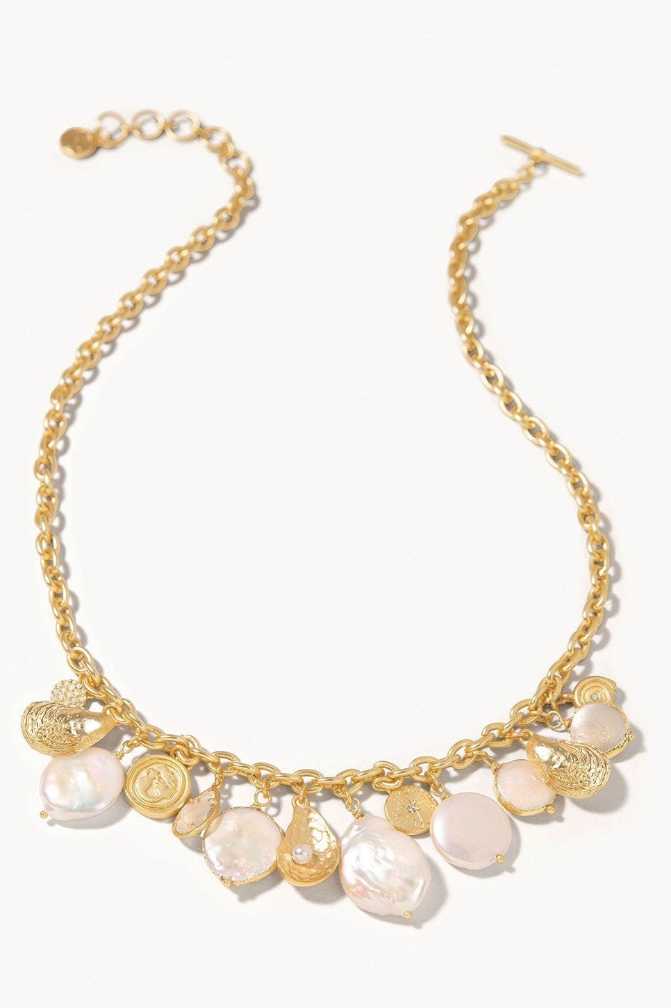 Pearl Charm Toggle Necklace