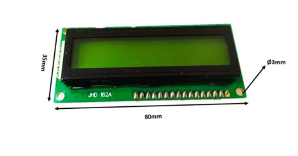 16x2 LCD Display Module Dimensions