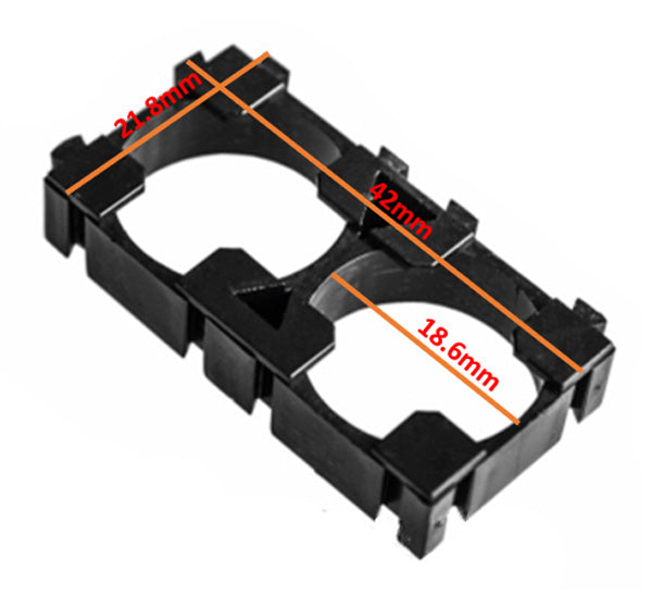 2 Section 18650 Lithium Battery Support Combination Fixed Bracket