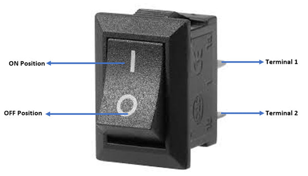 2Pin Boat Rocker Switch Push Button Switch