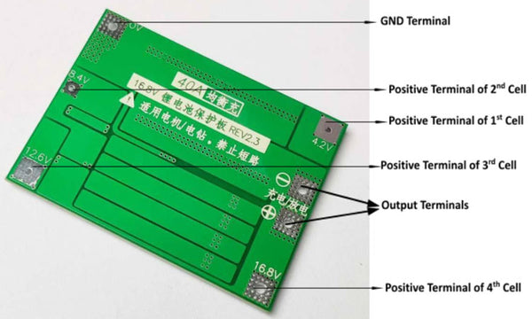 4S 40A Lithium Battery Protection Board
