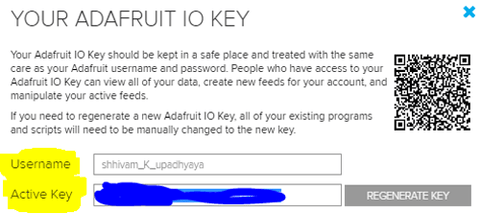 Adafruit IO Key