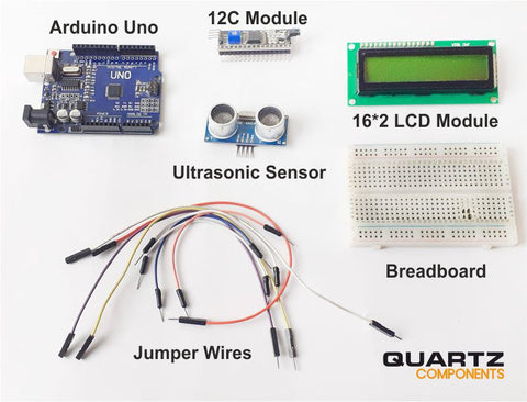 Components for Arduino Distance Measurement Project