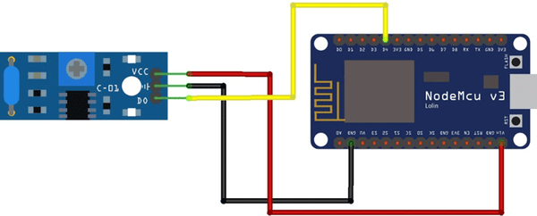 IoT based Accident Detection System Circuit Diagram
