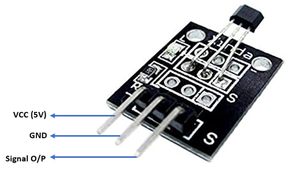 KY-035 Hall Magnetic Sensor Module Pinout