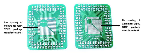 QFP/TQFP/LQFP/FQFP 32/44/64/80/100 LQF SMD Turn to DIP Adapter PCB Board