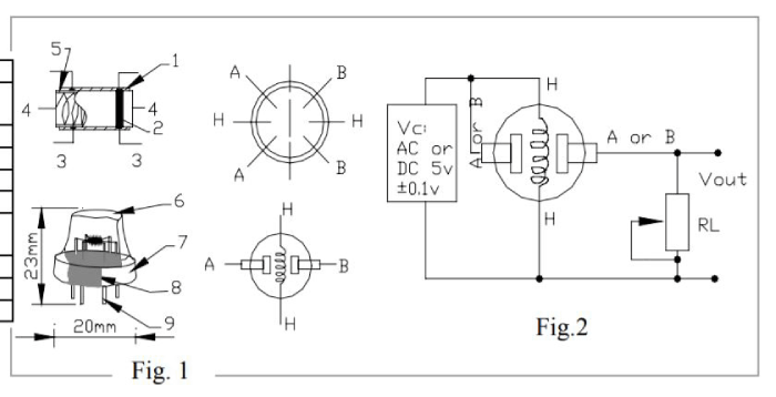 MQ135 Gas Sensor Internal Circuit