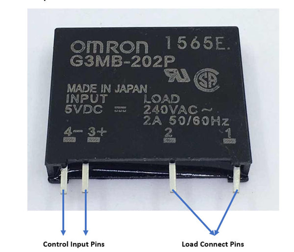 Solid State Relay G3MB-202P-5VDC 4 Pin 2A 240VAC Module