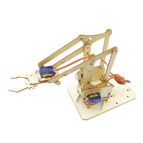 4 DOF Wooden Robotic DIY Arm Kit (Without Servo)