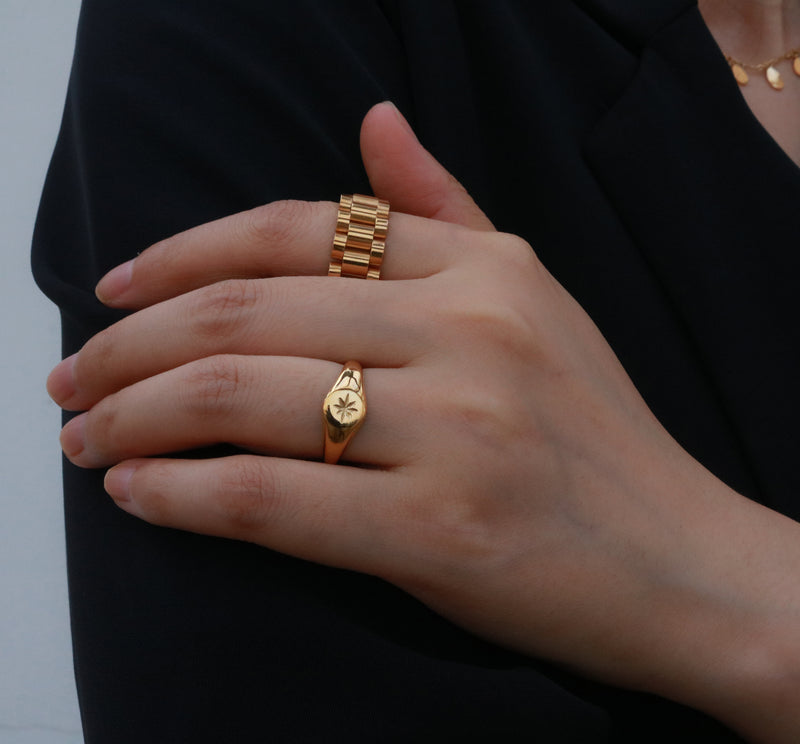 18k gold plated rings