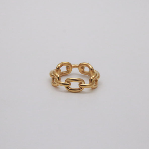Gold Link Chain Ring