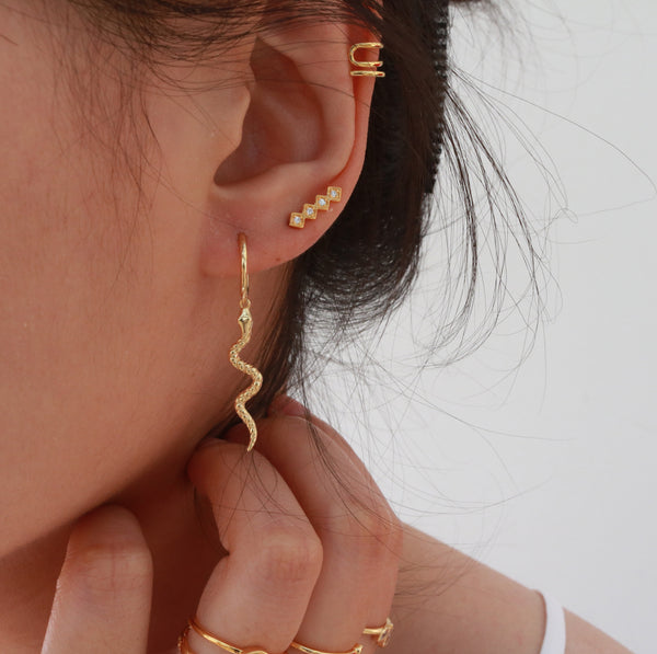 Meideya Jewelry - Amy diamon ear climger earring