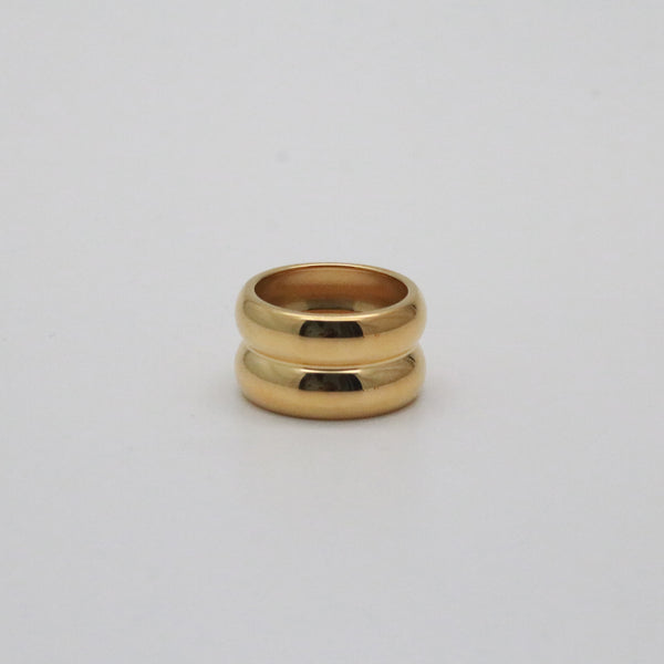 Asher Ring in 18k gold plated stainless steel