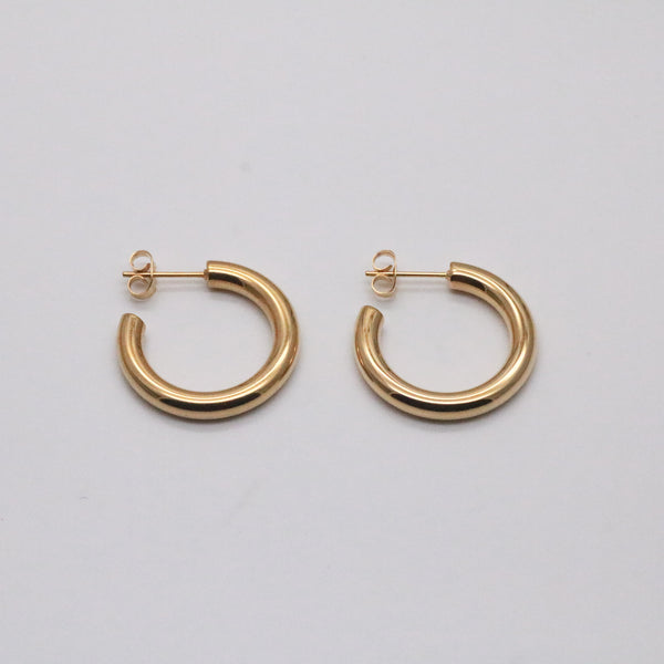 26mm gold hoop earrings