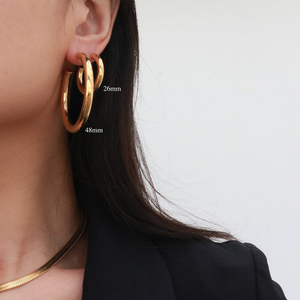 Oversized Gold Hoops