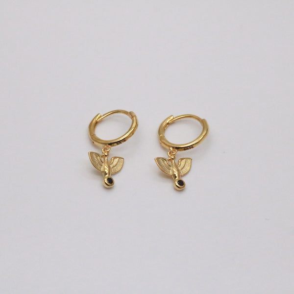 Meideya Jewelry - Eagle hoop earrings in 18k gold